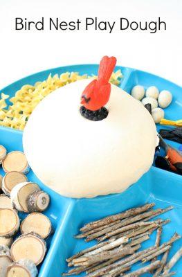 Bird Nest Play Dough Invitation