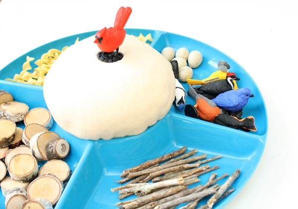 Bird Nest Play Dough Invitation for Toddlers and Preschoolers