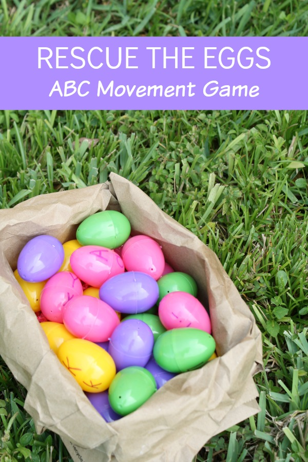 Rescue the Eggs Letter Recognition Game~Pretend to be birds and fly to rescue the eggs that have been scattered from their nest in this fun alphabet game for preschoolers