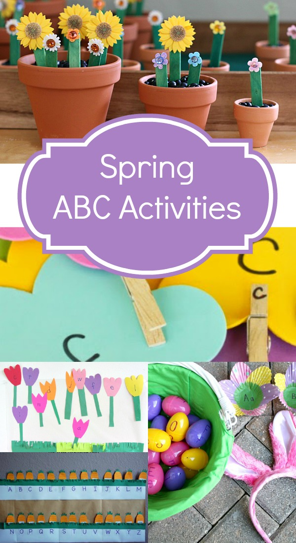 Spring ABC Activities ~Creative ways to learn the alphabet indoors and outdoors this spring