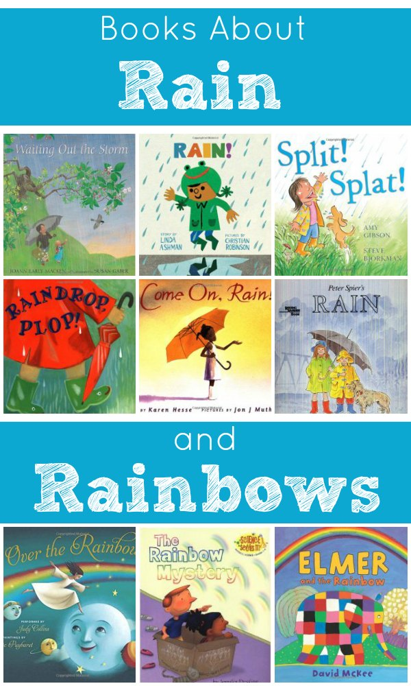 Books About Rain and Rainbows for Kids. Free printable When It Rains Writing Activity for Preschool and Kindergarten #booklist #freeprintable #preschool #kindergarten