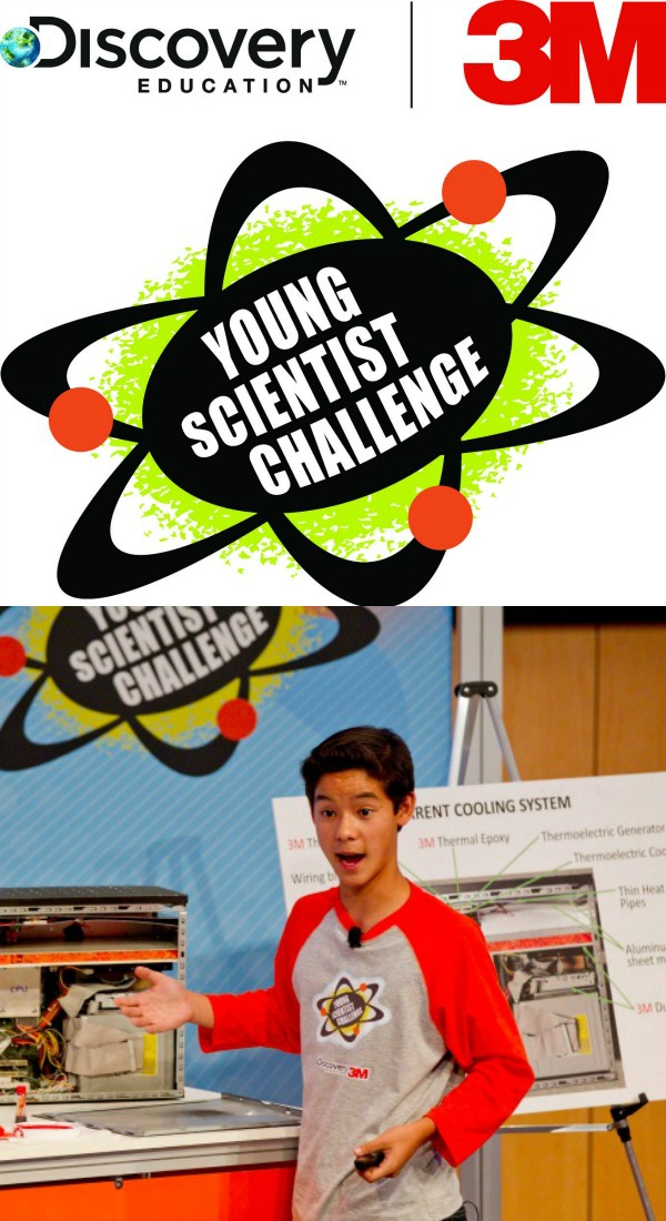Great opportunity for middle school kids-Enter the Discover Education 3M Young Scientist Challenge by April 21st