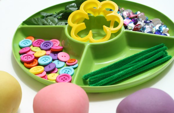 Materials for Flower Play Dough
