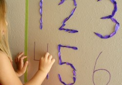 Sticky Flower Garden Number Activity