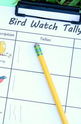 Free Printable Bird Watch Tally Sheet
