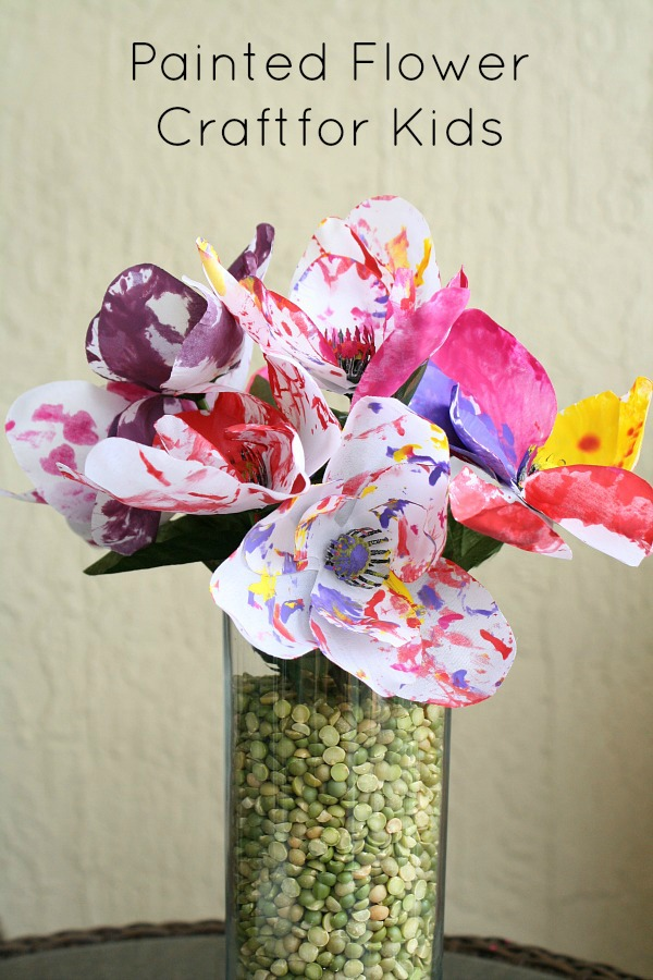 Painted Spring Flower Art for Kids