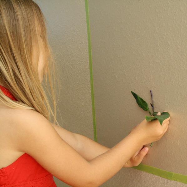 Wall flower garden for kids