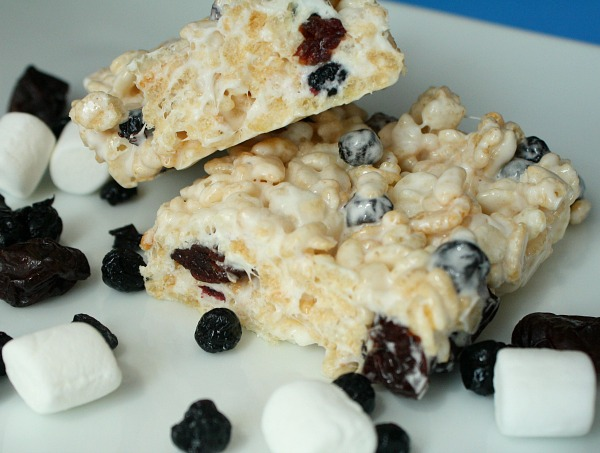 4th of July Dessert-Red White and Blue Rice Krispie Treats