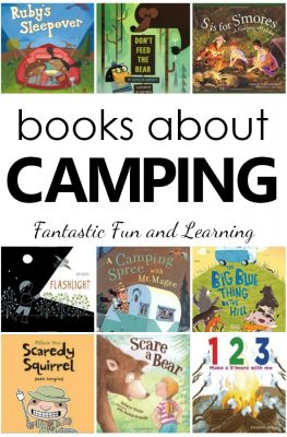 Books About Camping. Camping Theme Books for Preschool and Kindergarten #booklist #preschool #kindergarten #kidlit