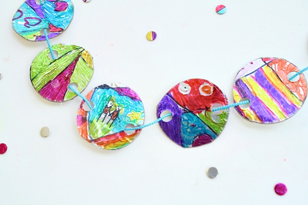 Cool Crafts for Kids-Upcycled Necklace