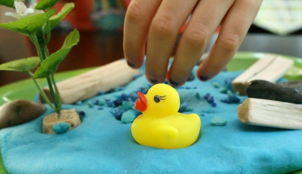Duck in the Pond Play Dough Activity