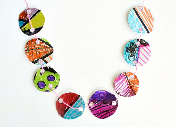 Foil Necklace Craft for Kids
