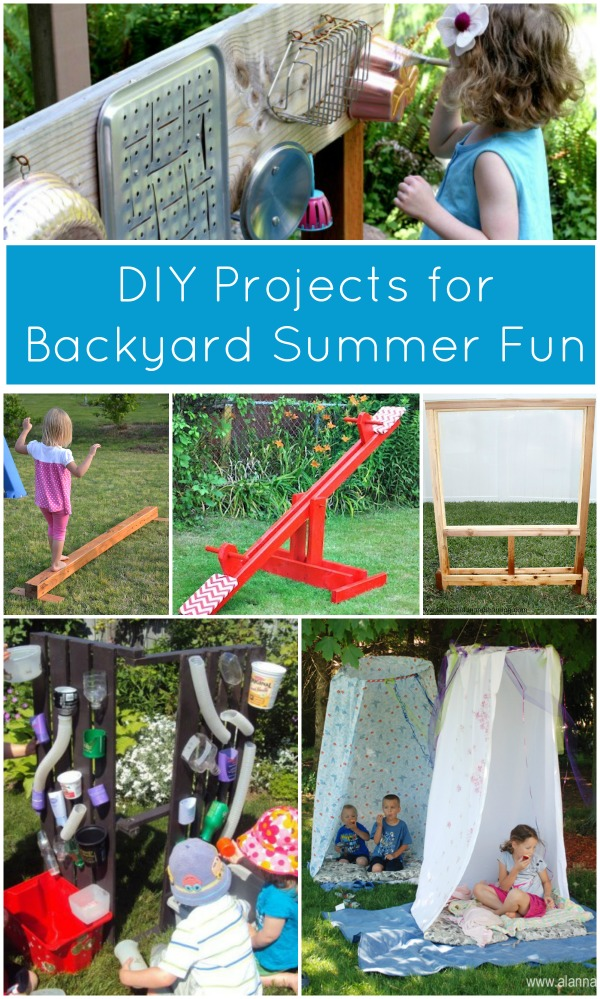 Get kids playing outdoors more this summer with these 6 DIY projects for backyard fun. Bonus--they're easy and won't take you all summer to make!
