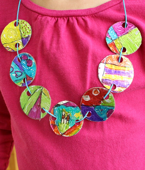 gift necklace idea for craft mom diy beaded bead statement painted