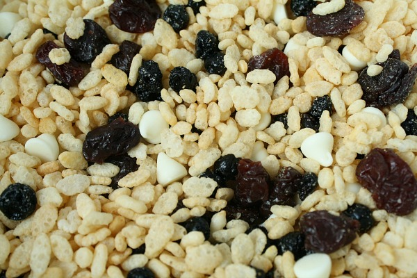 Mix Ingredients-Rice Krispy Treats with Fruit