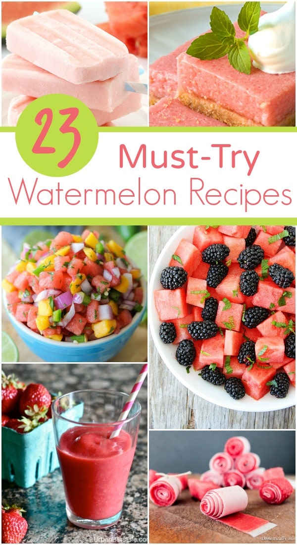Must-Try Watermelon Recipes-Drinks, Salads, Snacks and Desserts for Summer