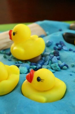 Duck Pond Play Dough Invitation