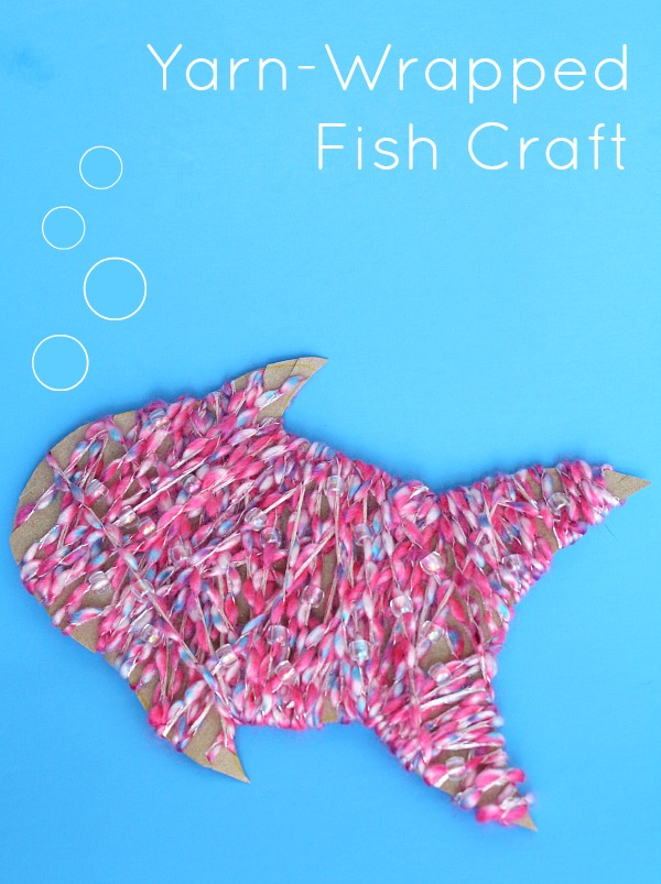 Yarn-Wrapped Fish Craft
