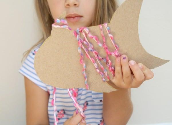 Yarn-Wrapped Preschool Craft