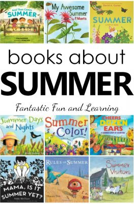 Books About Summer for Kids. Children's Picture Books for Summer. Summer Books List for Preschool and Kindergarten #booklist #summer #preschool #prek