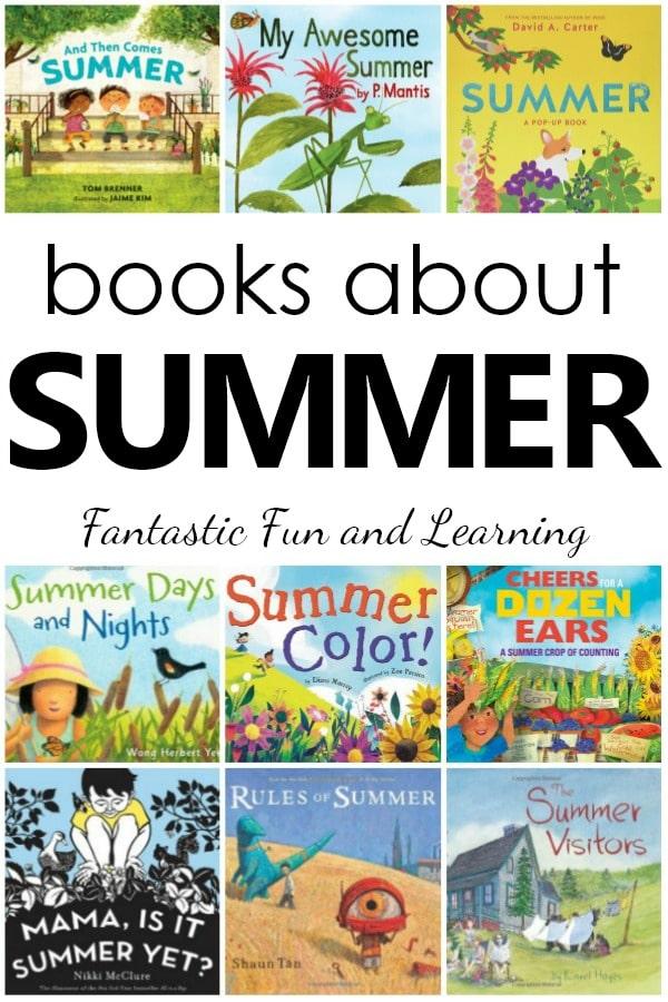 Books About Summer for Kids. Children's Picture Books for Summer. Summer Books List for Preschool and Kindergarten #booklist #summer #preschool #prek