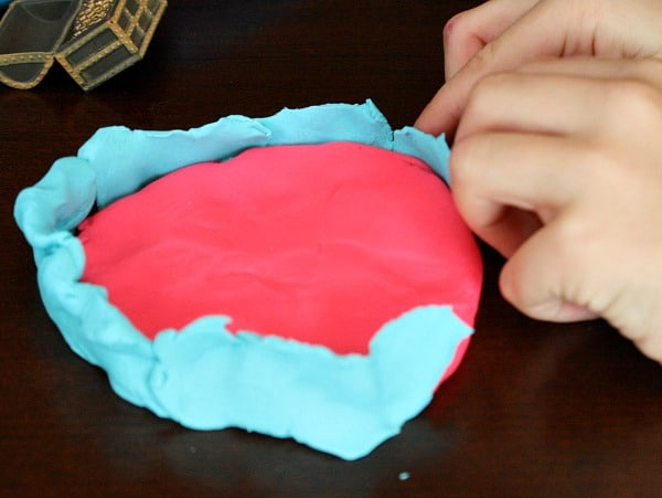 Building playdoh coral reef