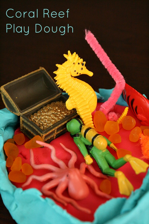 Coral Reef Play Dough Activity for Kids