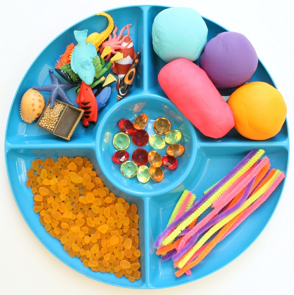 Coral Reef Play Dough Materials