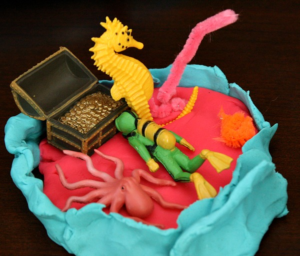 Coral Reef made from play dough