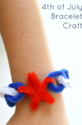 4th of July Craft Bracelet for Kids