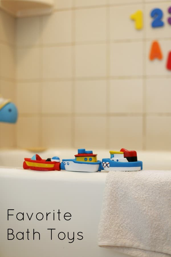 Favorite Bath Toys for Toddlers and Preschoolers~These make GREAT gifts for birthdays and holidays. Such a fun addition to bath time!