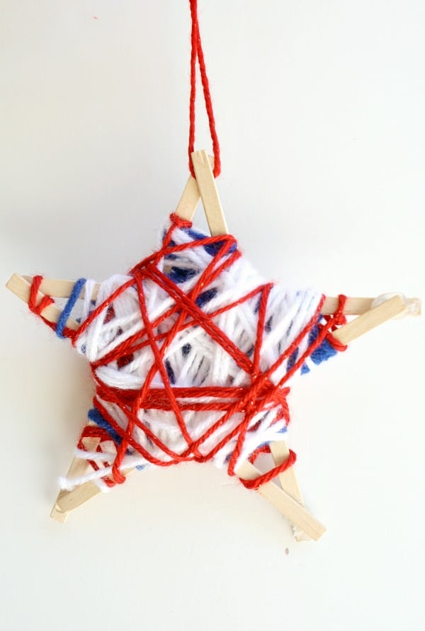 Fourth of July Craft for Kids~Yarn-Wrapped Star