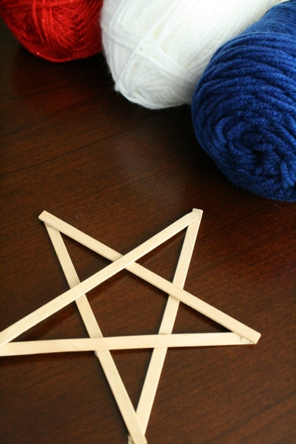 Materials for yarn-wrapped star