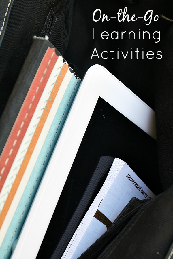 On-the-Go Learning Activities with your Tablet~5 Fun ideas for meaningful everyday learning on-the-go.