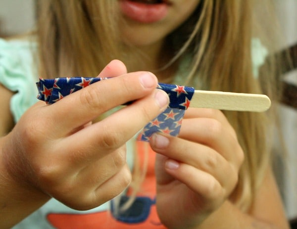 Tape Art Projects with Washi Tape and Craft Sticks