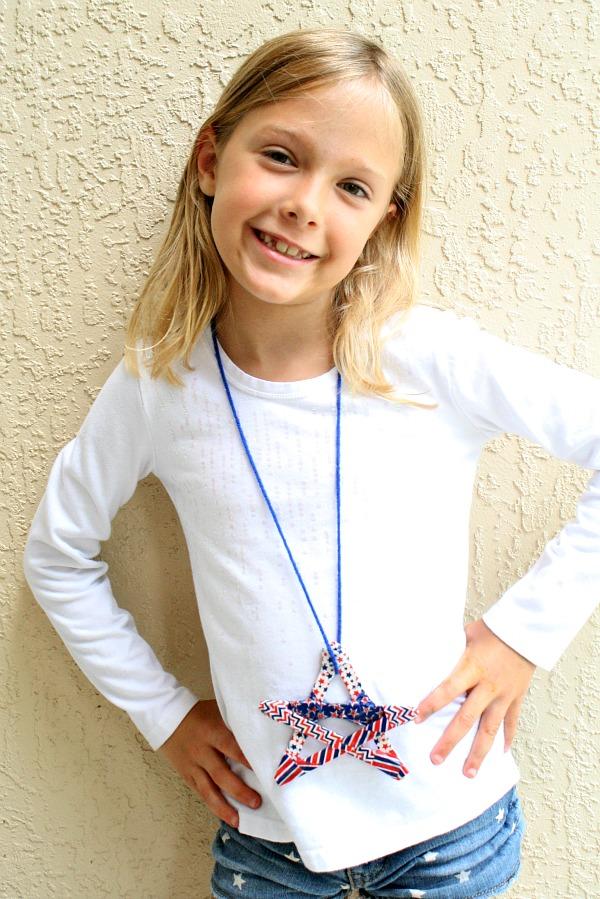 Washi Star Necklace