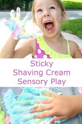 Sticky Shaving Cream Sensory Play