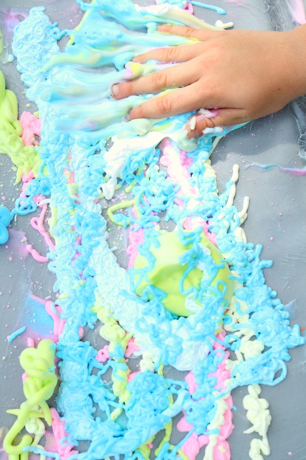 Sticky Shaving Cream Sensory Play