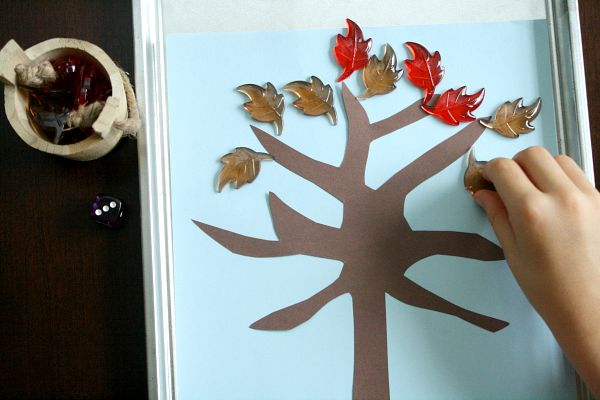 Adding and Subtracting Fall Leaves