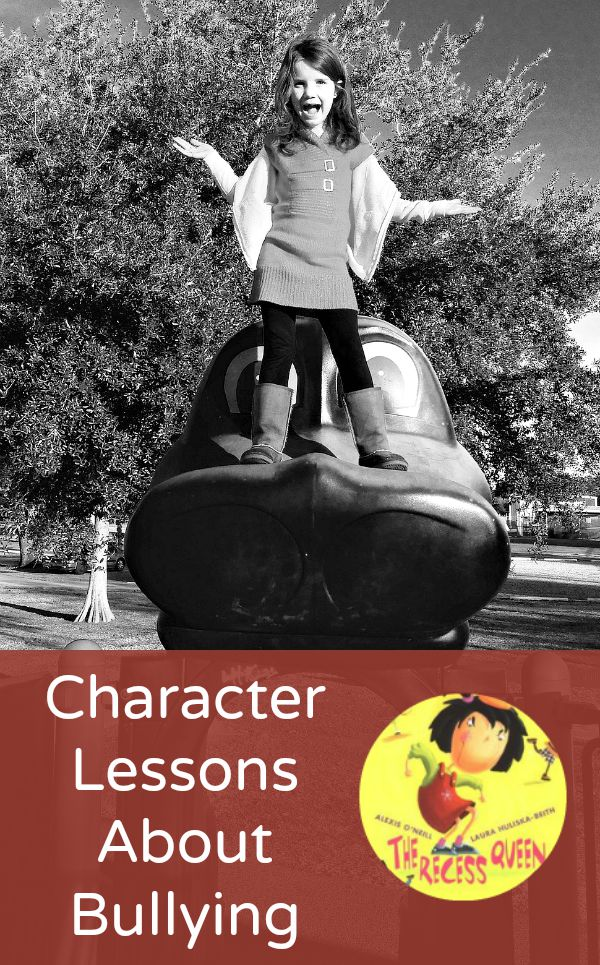 Character lessons about bullying to go with the book The Recess Queen