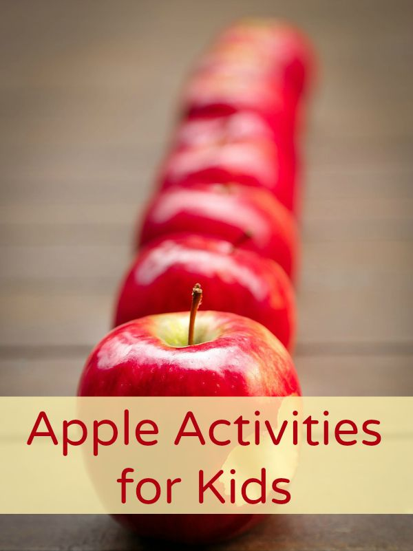 Fall Apple Activities for Kids-Simple sensory play and learning activities for fall