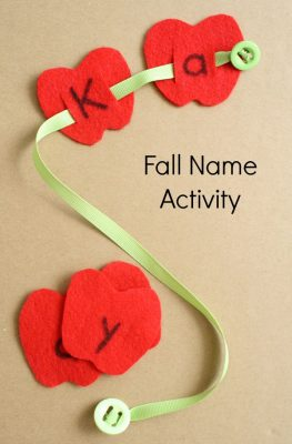 Button Worm Apple Fall Name Activity