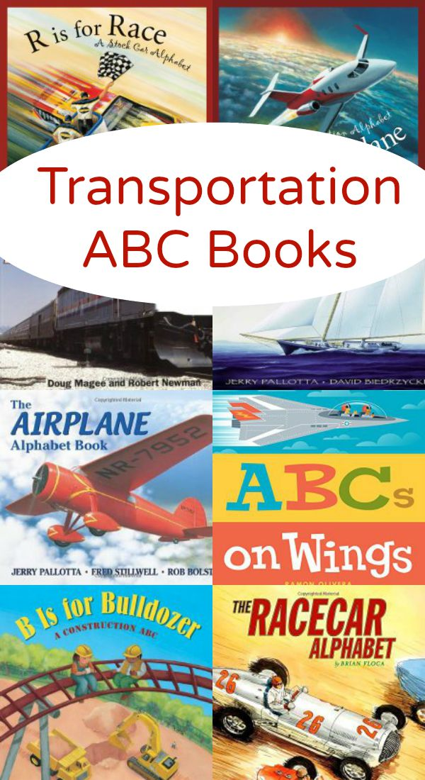 Transportation ABC Books-Alphabet Books About Planes, Trains, Boats and Automobiles