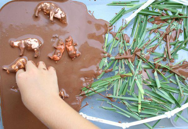 Chocolate mud sensory play