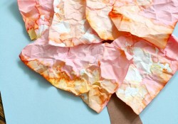 Crumpled Paper Fall Art for Kids