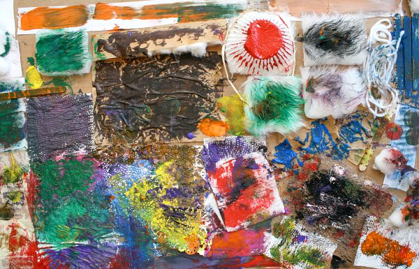 Painting on Textures Sensory Art and a New Book Fantastic Fun