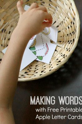 Free Apple Letter Cards for Making Words Activities