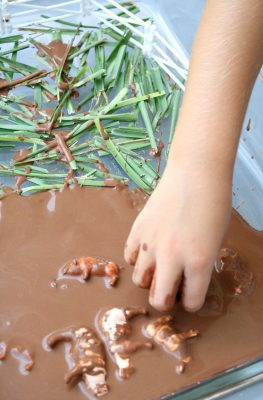 Pigs in the Mud Sensory Play and Song