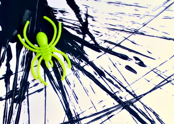 Halloween Process Art Spider Web Paintings - Fantastic Fun & Learning
