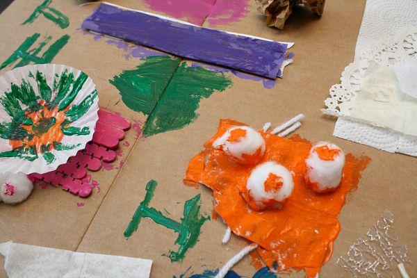 Preschool Process Art-Paint on Textures